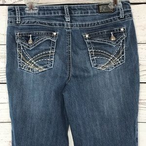 Earl Jeans Low-Rise Bootcut Embroidered Stretch